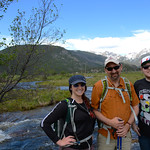 Geolaunchad interns Amye Pedrino and Dylan Blanchard explore Rocky Mountain National Park with their mentor Chris Crosby during the RMNP all intern fieldtrip. Rocky Mountian National Park, C ...