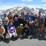 All intern fieldtrip to Rocky Mountain National Park to explore local geology and glacial geomorphology. Rocky Mountain National Park, Colorado, June 2017). (Photo/Ellie Ellis, UNAVCO).