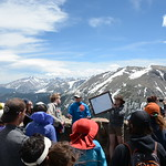 Simon Pendelton of University of Colorado Boulder teaches UNAVCO student interns and staff about the glacial geomorphology and climate history of Rocky Mountain National Park. Rocky Mountain ...