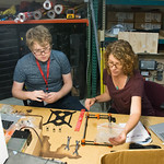 Geolaunchpad interns Dylan Blanchard and Jodi Schoonover assemble UNAVCO's 3D printer, which will be used to create educational models. UNAVCO Workshop, Boulder, Colorado, June 2017. (Photo/ ...