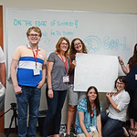 Geolaunchpad interns participated in an afternoon leadership training to build their individual and group strengths. UNAVCO Office, Boulder, Colorado, June 2017. (Photo/Ellie Ellis, UNAVCO).